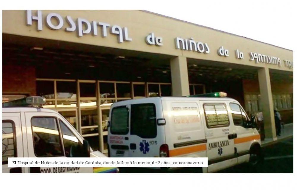 Nena de dos años falleció por coronavirus en Córdoba