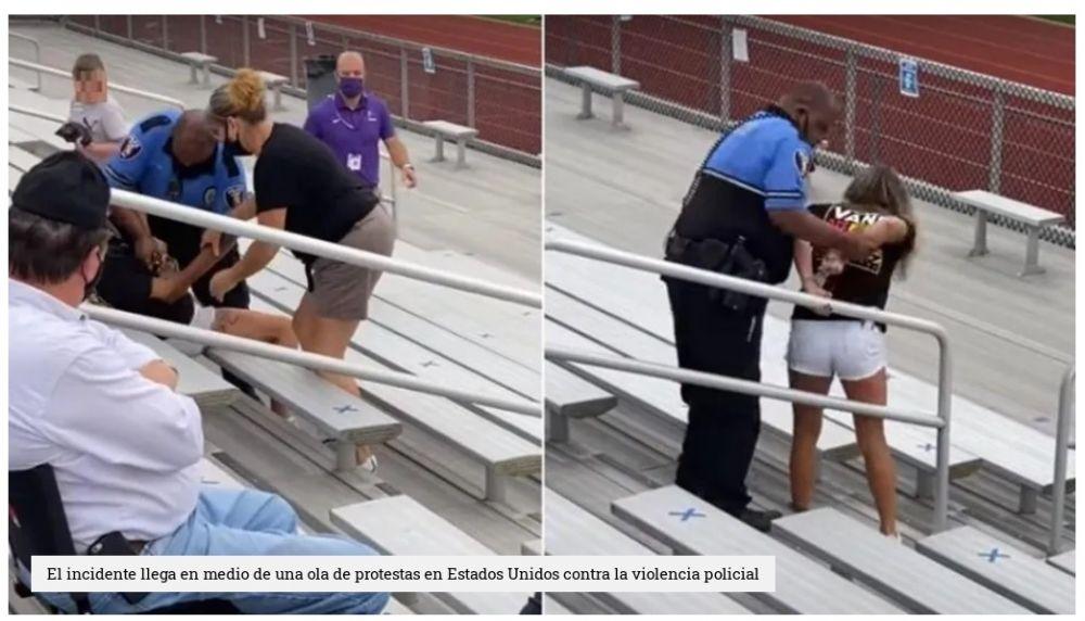 Un policía le disparó a una mujer con una pistola Taser por no usar barbijo