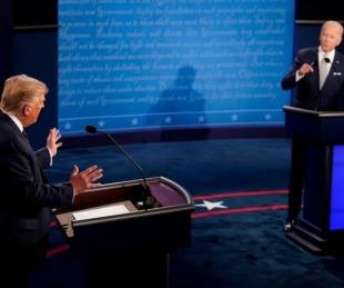 foto: Debate: duros choques y ataques personales entre Trump y Biden