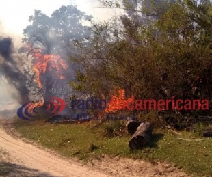 foto: Goya: feroz incendio se inició en un campo de paraje Buena Vista