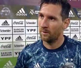foto: El saludo de Messi a los argentinos: