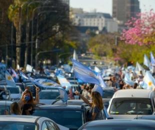 foto: #12O: enorme protesta contra la cuarentena y políticas de Nación
