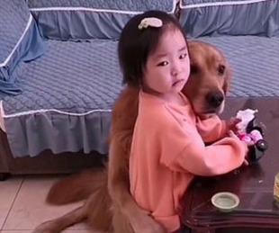 foto: El video de la mascota que defendió a una niña de la furia de su madre