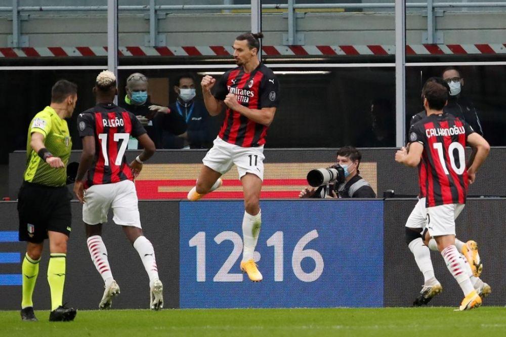 Con dos goles de Ibrahimovic, Milan venció al Inter en la Serie A