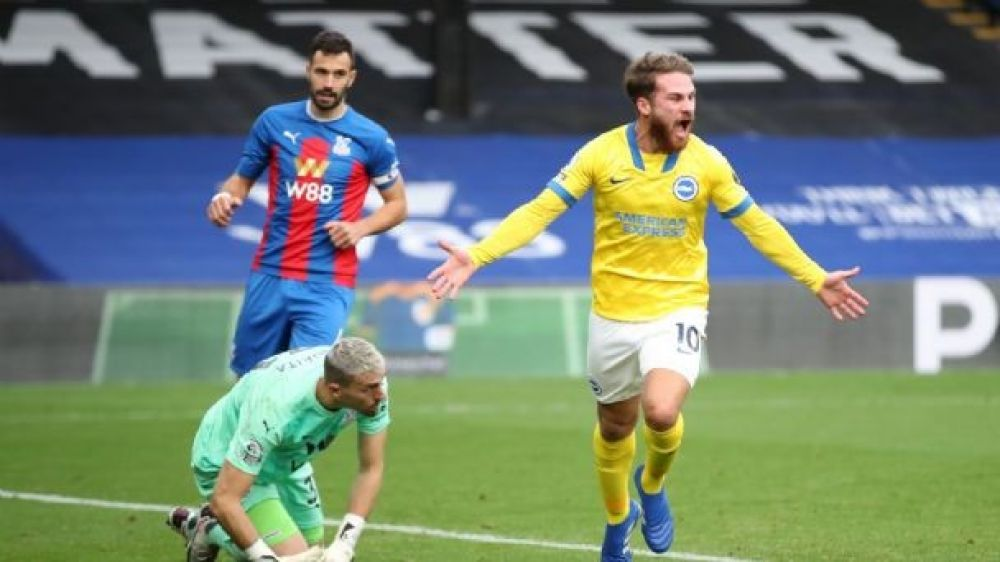 Mac Allister hizo su primer gol en Premier en el empate del Brighton