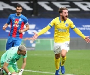 foto: Mac Allister hizo su primer gol en Premier en el empate del Brighton