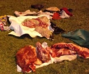foto: Los atraparon con alto asado: llevaban más de 100 kilos de carne