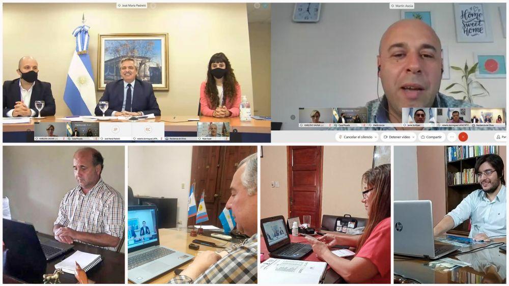 Intendentes de Corrientes dialogaron con Alberto Fernández