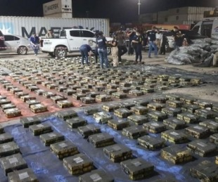 foto: Paraguay hizo la mayor incautación de cocaína de toda su historia