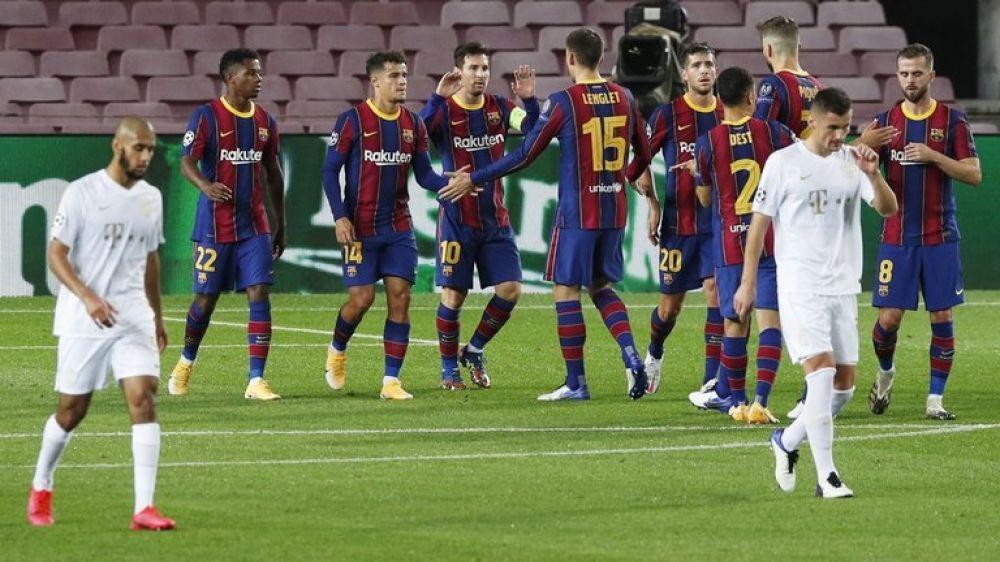 Con gol de Messi, Barcelona goleó en su debut en Champions League