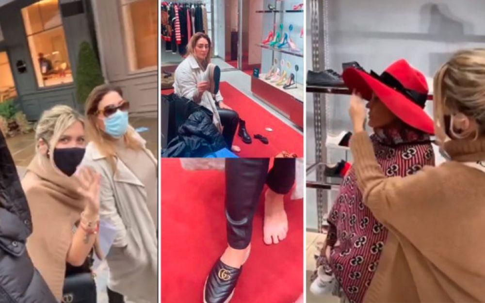 La tarde de compras de Wanda Nara y Sol Estevanez en París