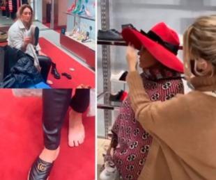 foto: La tarde de compras de Wanda Nara y Sol Estevanez en París