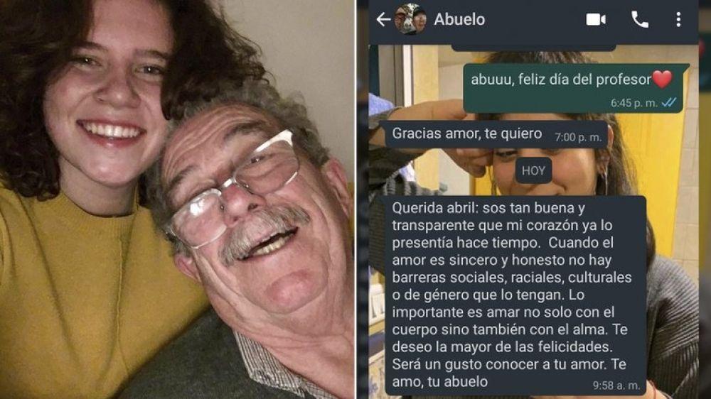 Su nieta estaba enamorada de una chica y él le envió un mensaje conmovedor