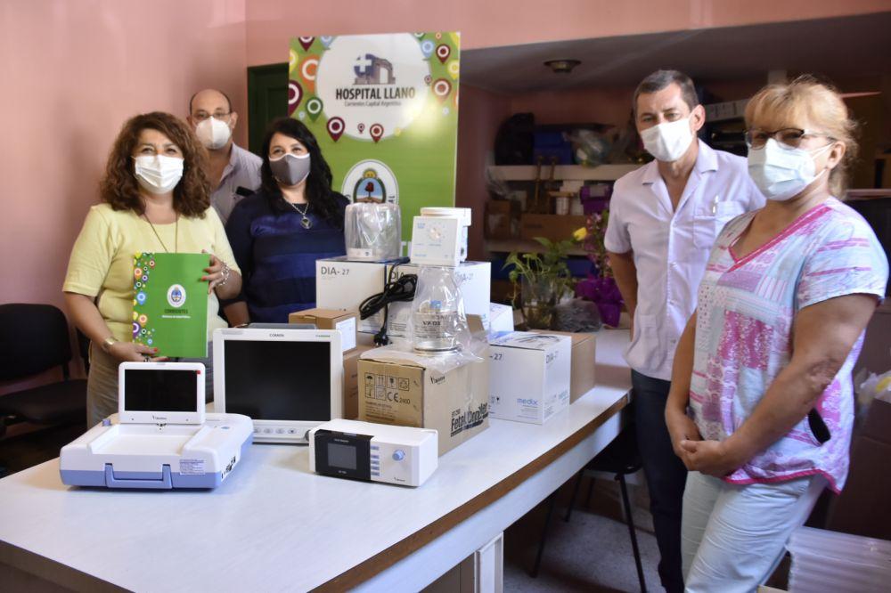 Entregaron equipos para fortalecer la Maternidad del hospital Llano