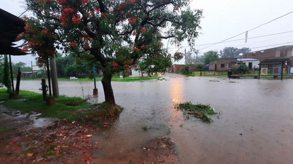 Fuerte temporal en Mercedes: llovió 120 mm en pocas horas