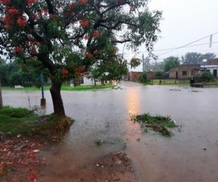 foto: Fuerte temporal en Mercedes: llovió 120 mm en pocas horas