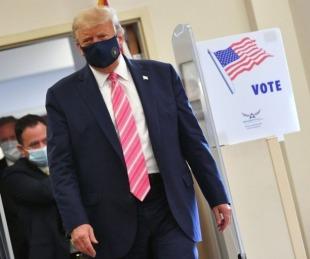 foto: E.E.U.U.: Donald Trump ya votó y criticó a