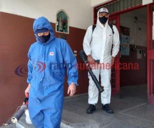 foto: Por casos de Covid, desinfectaron el Consejo de Educación