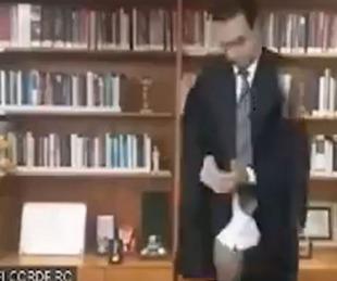 foto: Un juez apareció en calzoncillos en medio de una sesión virtual