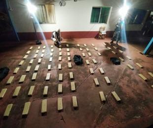 foto: Incautaron más de 114 kilos de marihuana en cercanías de Itatí