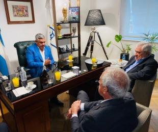 foto: Tapia se reunió con Ameal y DOnofrio en medio de grandes diferencias