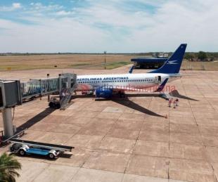 foto: Video: así llegó el primer vuelo a Corrientes desde Buenos Aires