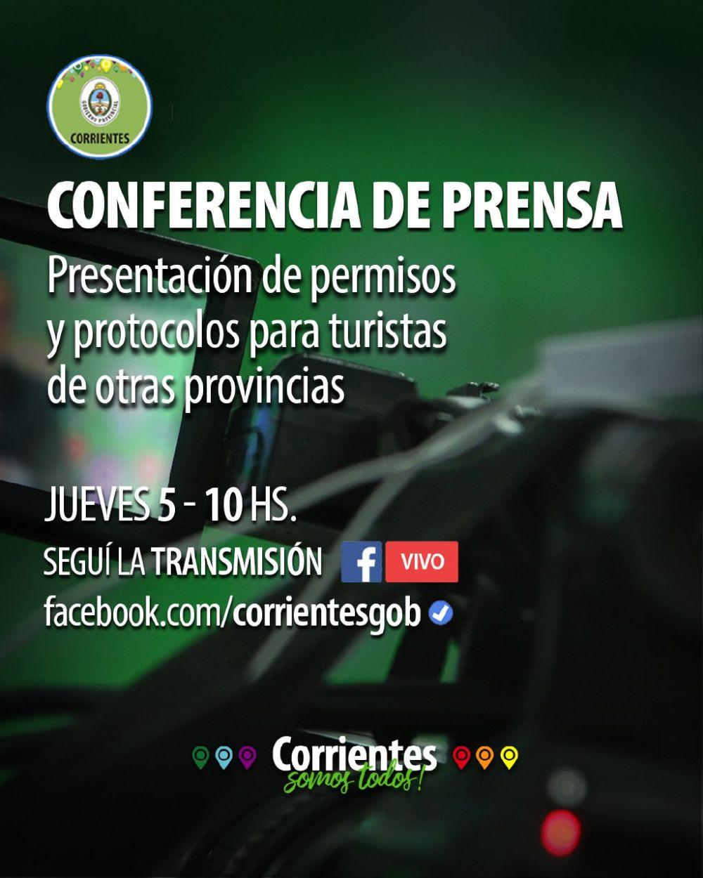 Apertura del turismo: Este jueves habrá conferencia de prensa