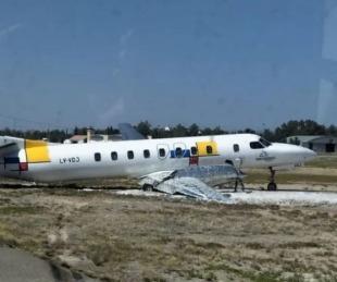 foto: Despistó un avión en el Aeropuerto de Mendoza y cancelaron vuelos