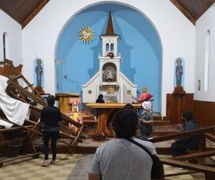 foto: Río Negro: imputaron a tres mapuches por destrozar una iglesia