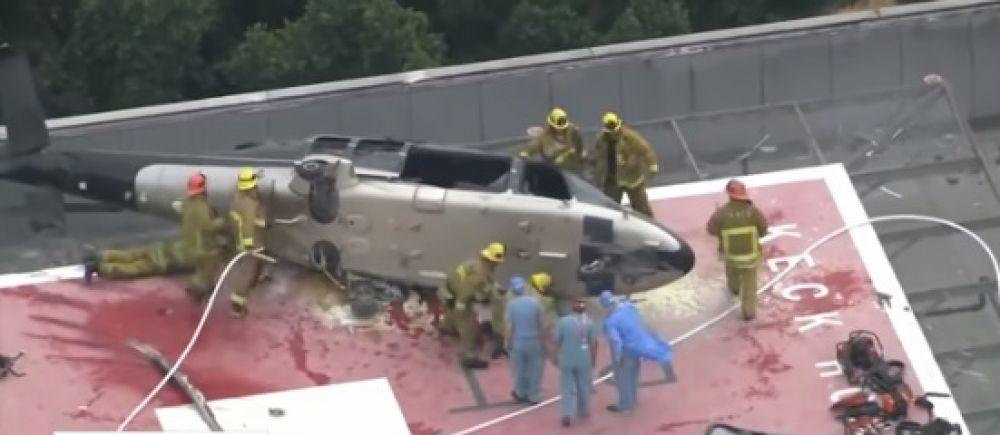 Un helicóptero trasladaba un corazón para un trasplante y se estrelló