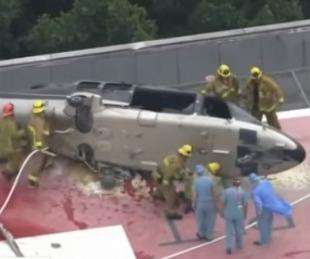 foto: Un helicóptero trasladaba un corazón para un trasplante y se estrelló