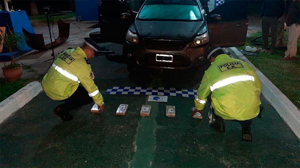 Viajaba de Oberá a Entre Ríos con cocaína valuada en $ 20 millones