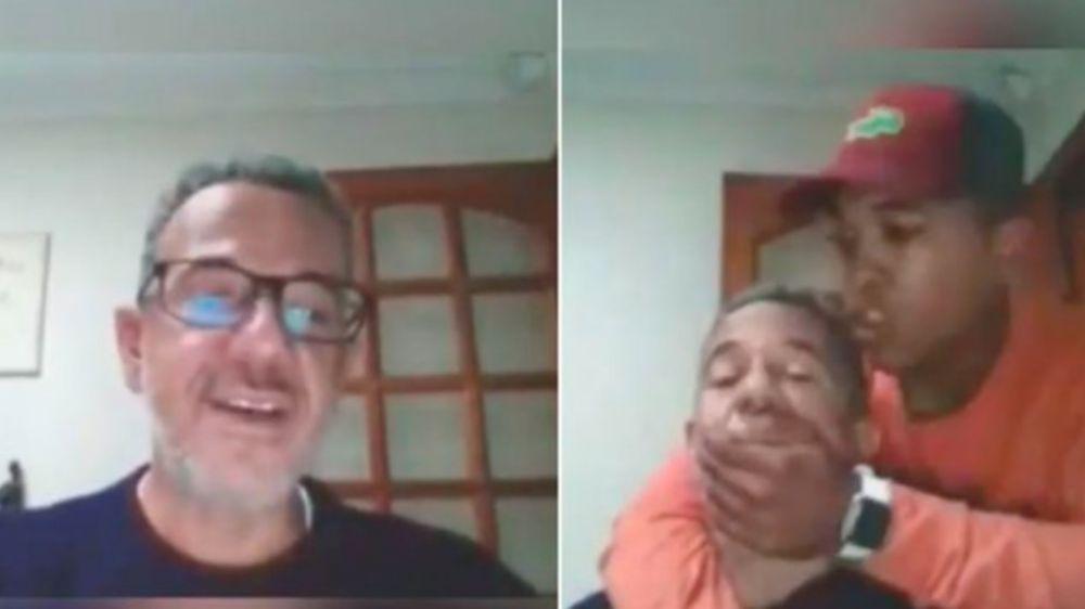Video: asaltaron a un profesor mientras daba una clase online