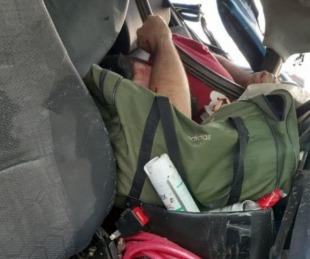 foto: Feroz accidente sobre ruta 123: El camionero quedó atrapado en la cabina