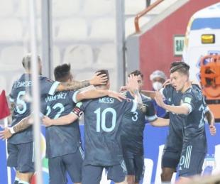 Argentina jugó el mejor partido de las Eliminatorias y le ganó a Perú