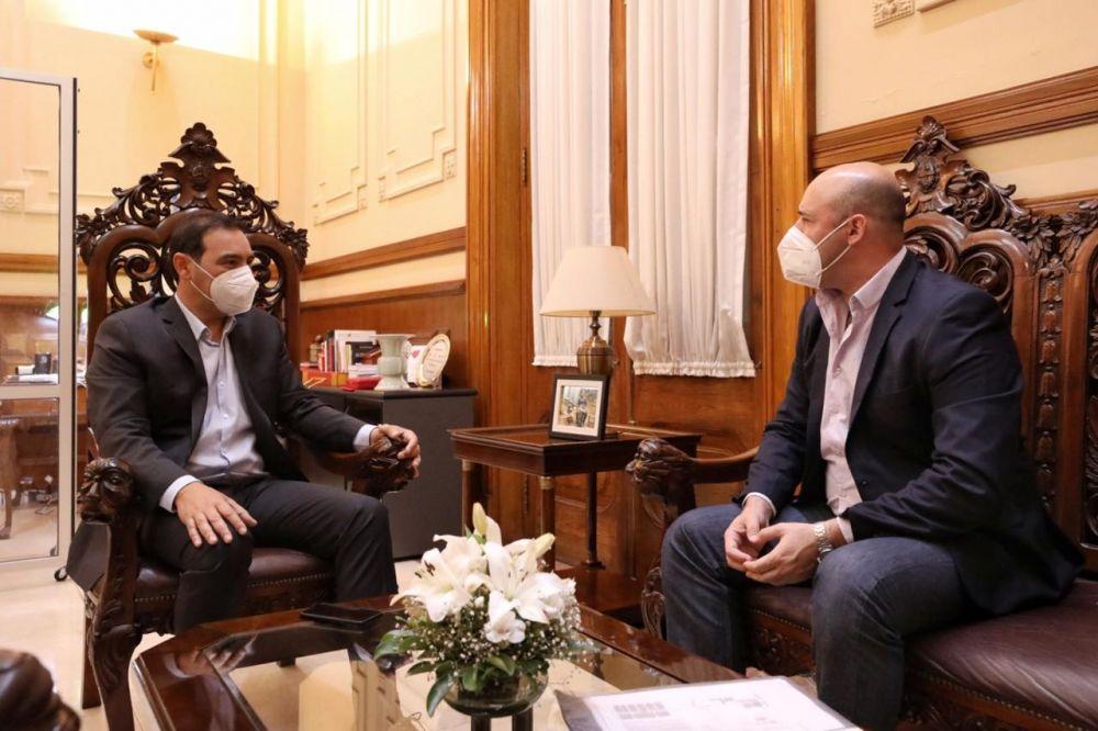 Valdés y Ascúa se reunieron para articular medidas contra el Covid