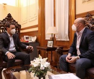 foto: Valdés y Ascúa se reunieron para articular medidas contra el Covid
