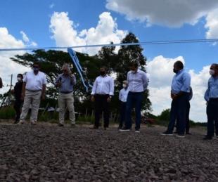 foto: Valdés inauguró 40 kilómetros de ripio para producción y conectividad