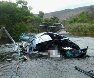 foto: El primer informe confirmó que el helicóptero de Jorge Brito cayó tras impactar con los cables de una tirolesa