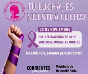 foto: Acto por el Día Internacional de la No Violencia hacia la Mujer