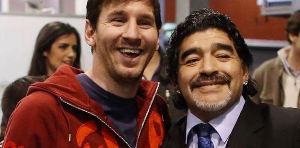 Diego es eterno, la emotiva despedida de Lionel Messi