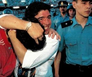 foto: Gobernador de Misiones recordó a Maradona cuando era DT de Mandiyú