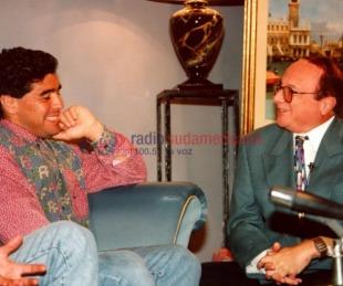 Recuerdos: la visita de Maradona al programa de Natalio Aides