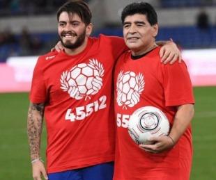 foto: Diego Maradona Junior le dedicó una conmovedora carta a su padre