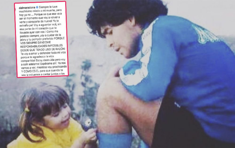 Conmovedor posteo de Dalma Maradona para despedir a su padre
