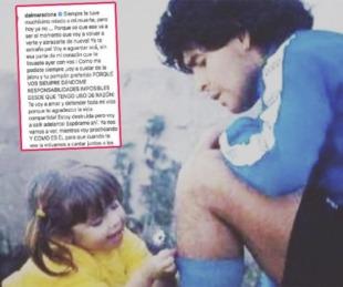 foto: Conmovedor posteo de Dalma Maradona para despedir a su padre