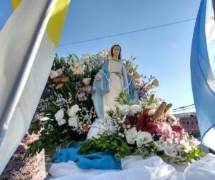 foto: La Virgen de la Medalla Milagrosa visitó el Hospital de Campaña