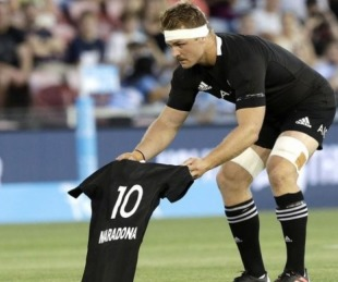 foto: Videos: El emotivo homenaje de los All Blacks a Diego Maradona