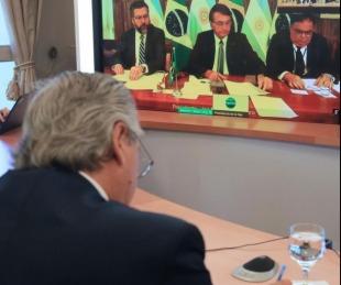 foto: El Presidente encabezó un acto virtual junto a su par, Jair Bolsonaro
