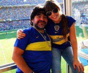 foto: El mensaje de Dalma tras su visita al palco de Diego en La Bombonera